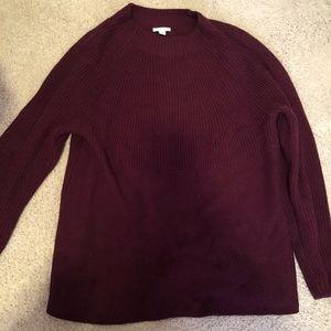 J Jill Burgundy Sweater